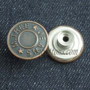 Plating Custom Brand Metal Buttons for Jeans Jacket pictures & photos