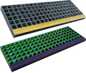 Fibreglass Anti Slip Structural Stair Treads, Fiberglass Gratings pictures & photos