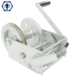3300lbs Hand Winch Dacromet with Removable Hand pictures & photos