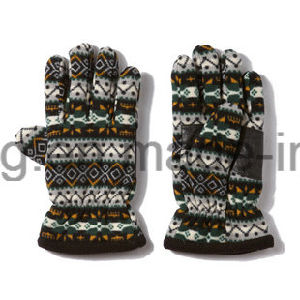 Cheap Warm Polar Fleece Printed Gloves/Mittens