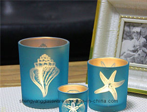 Hot Sell Fashion Colorful Tea Light Glass Candle Holders pictures & photos
