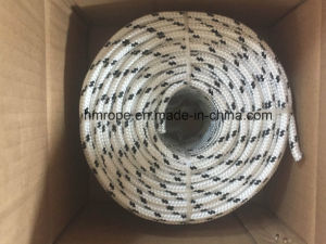 Polyester Briaded Rope 4mm-40mm 8 16 24 Strands White with Black pictures & photos