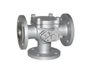 Flange T Type Tee 3-Way Ball Valve pictures & photos
