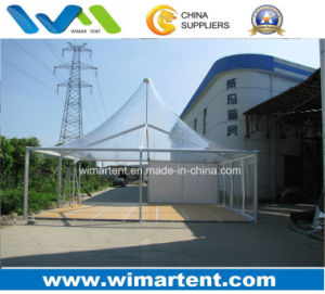 8X8m Outdoor Clear PVC Gazebo Tent with Floor for 50 People pictures & photos