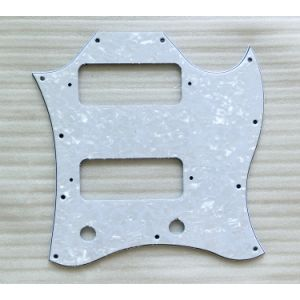 Full Size White Pearloid Saga Guitar Pickguard for P90 Pickup pictures & photos