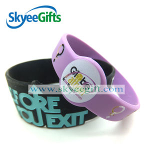 Purple Silicone Rubber Wristband for Adult pictures & photos