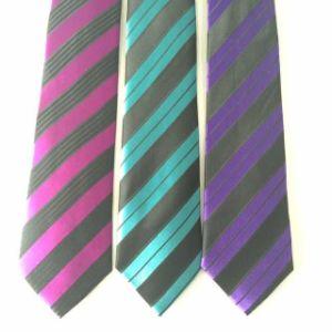 Stipe Design Men′s Fashion Woven Silk Neckties pictures & photos