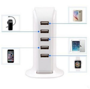 5 USB Ports Universal Cell Phone Charger 5V 6A for iPhone and Android Tablet pictures & photos