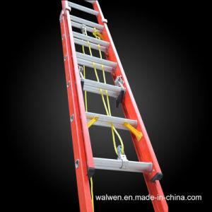 En131 Fiberglass Telescopic Ladder Cabel Ladder Step Ladder pictures & photos
