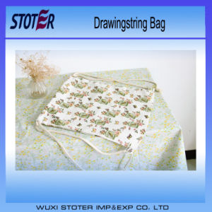 Promotion Microfiber Fabric Drawstring Bag Pressed with Gold Logo