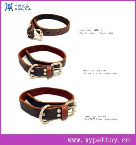 Hot Selling Natural Leather Dog Collar pictures & photos