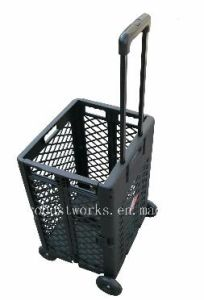 Extra Capacity Plastic Shopping Cart (FC404KP-1) pictures & photos