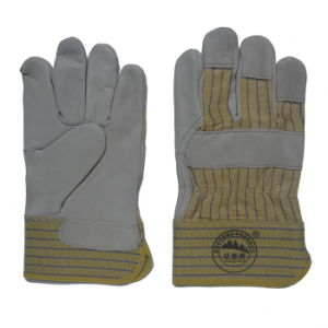 Cow Grain Leather Driver Working Gloves pictures & photos