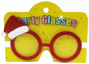 Christmas Sunglasses with Christmas Hat Red