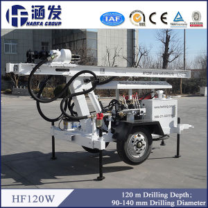Very Useful Hf120W Wheel Water Well Drilling Rig for Selling pictures & photos