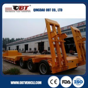 Obt Brand 2/3/4 Axle 60~100 Tons Lowbed Semi Trailer pictures & photos