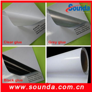 Black Glue Glossy Self Adhesive Vinyl Price for Car Sticker pictures & photos
