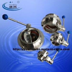Food Grade Sanitary Butterfly Valve pictures & photos