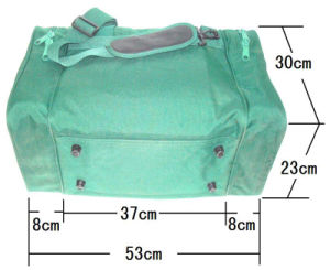 Durable 600d Polyester PVC Backing Fashion Holdall Travel Bag pictures & photos