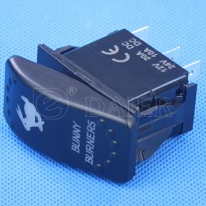 5pin IP67 Illuminated Carling Marine Rocker Switch pictures & photos