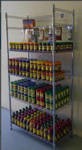 Epoxy Coated Metal Wire Display Shelving for Market & Showroom Application pictures & photos