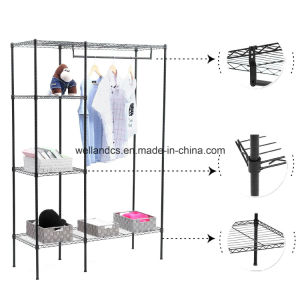 DIY Closet Steel Wardrobe Rack Shelf with NSF Approval pictures & photos