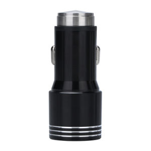 3.4A Quick Charge 2.0 Dual USB Metal Car Charger-Black pictures & photos