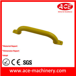 Yellow Color Powder Coating OEM Metal Handle pictures & photos