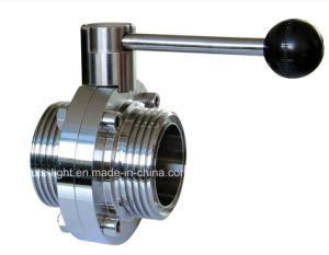 Food Grade Stainless Steel Sanitary Threaded Butterfly Valve pictures & photos