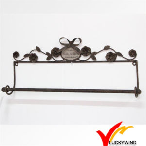 Rust Finish Wall Mounted Rustic Metal Towel Rack pictures & photos