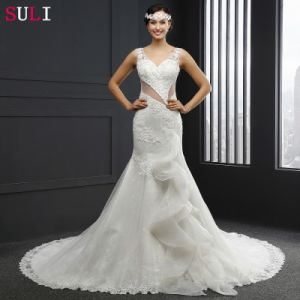 Mermaid O-Neck Backless Wedding Dress (Q-004)
