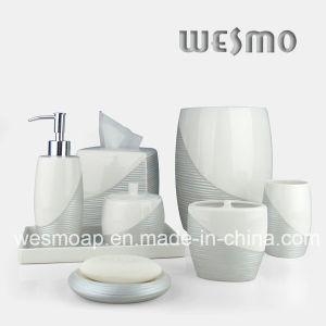Metallic Paint Porcelain Bathroom Set (WBC0710B) pictures & photos