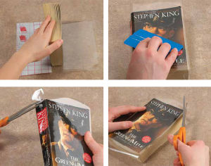 Self-Adhesive Clear Sticky Back Plastic Book Cover Film pictures & photos