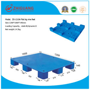 Heavy Duty Factory Price Plate Plastic Pallet (flat big nine feet) pictures & photos