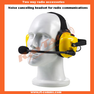 Walkie Talkie Behind The Head Heavy Duty Headset pictures & photos