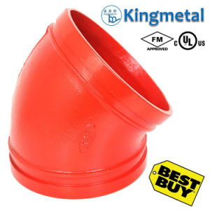 FM UL Approved Ductile Iron Red 45 Grooved Elbow pictures & photos