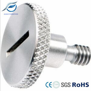 Stainless Steel Slotted Knurled Thumb Screw with Step