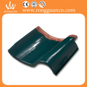 Green Color Glazed Roof Tile S Tile for Roof (L42) pictures & photos
