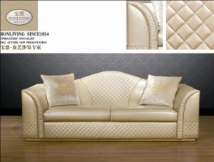 Original Italian Style Modern Luxurious Living Room Leather Sofa Set pictures & photos