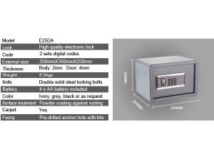 Electronic Safe Box with Digital Lock pictures & photos