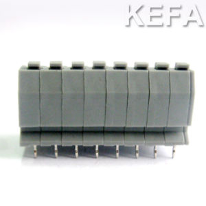PCB Screwless Terminal Block Connector with Dual Row 300V 10A 22-18AWG pictures & photos