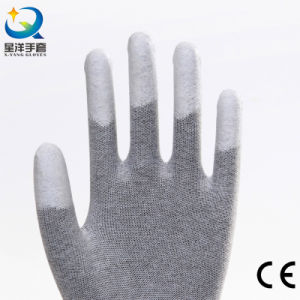 PU Top Coated Safety Gloves (PU011) pictures & photos