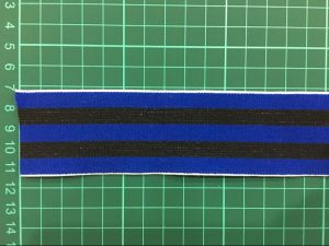 Blue and Black Elastic Tape for Elastic Tape for Underwear Ym-1008 pictures & photos
