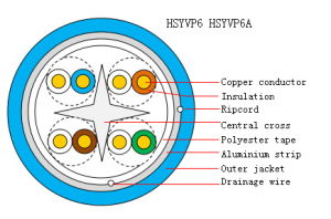 4 Pairs Indoor Twisted-Pair Cable UTP CAT6A (HSYVP6A) pictures & photos