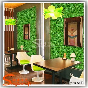 China manufacturer artificial grass wall for home for Artificial grass indoor decoration