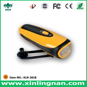 Emergency LED Torch, Hand Crank Flashlight with Mobile Phone Charger (XLN-281B)