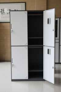 New Design Made in China Four Door Steel Clothes Cabinet pictures & photos