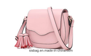 New Trendy PU Tassels Handbag Pure Color Saddle Bags pictures & photos