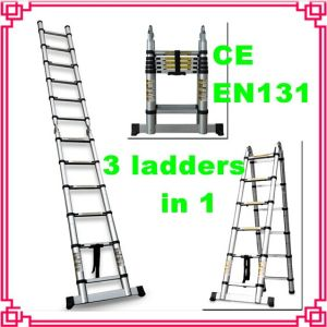 Double Aluminum Telescopic Step Ladder pictures & photos