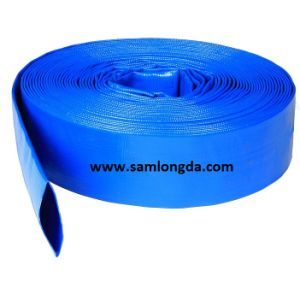 PVC Lay-Flat Water Discharge Hose / PVC Layflat Hose for Drip Irrigation pictures & photos